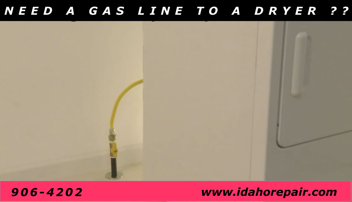 gas lines to dryer from Idaho Repair in boise