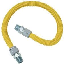 gas lines to range, dryer, gas piping